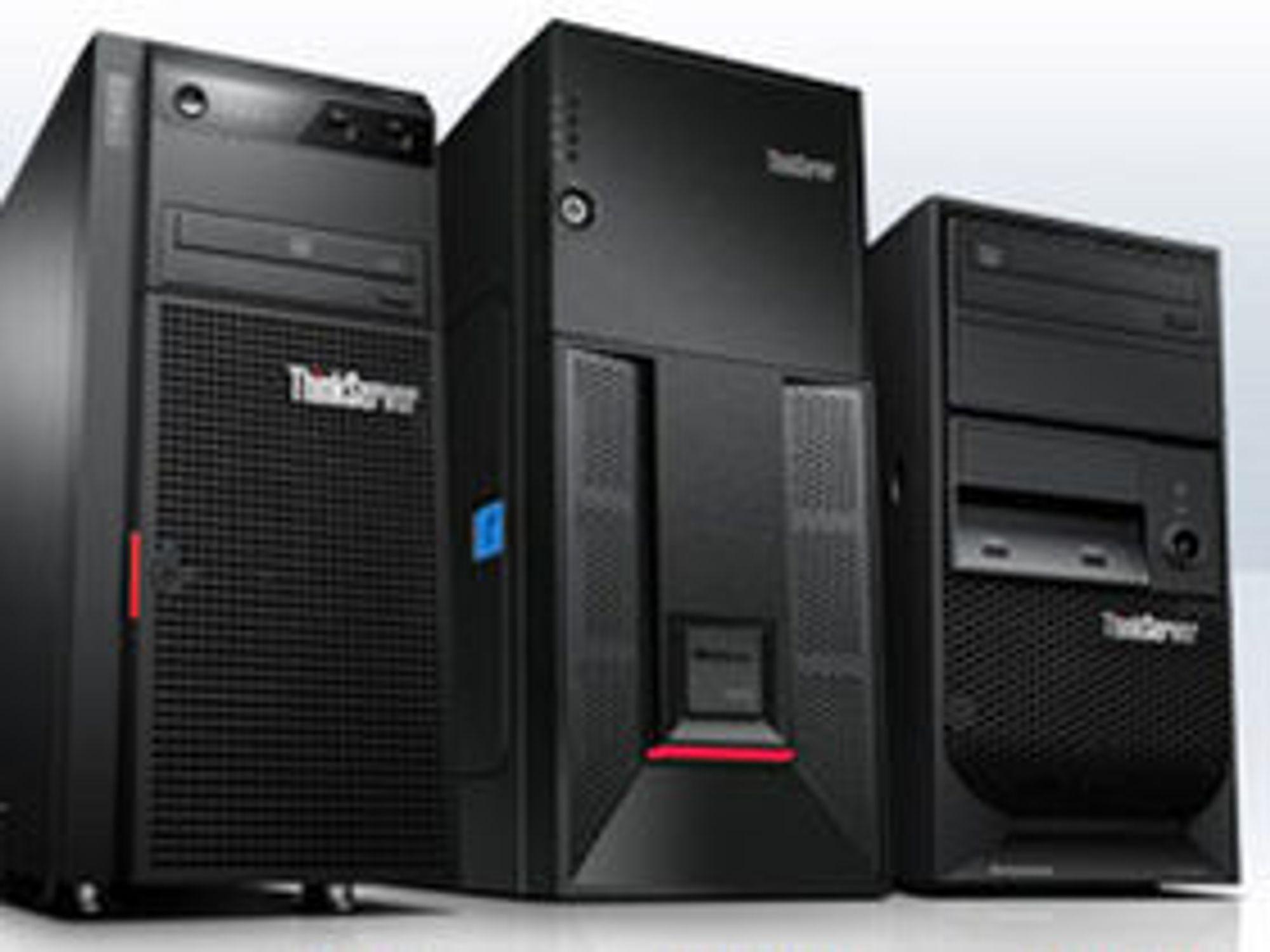 Lenovo opplevde en volumvekst på 77 prosent på sine Thinkserver.