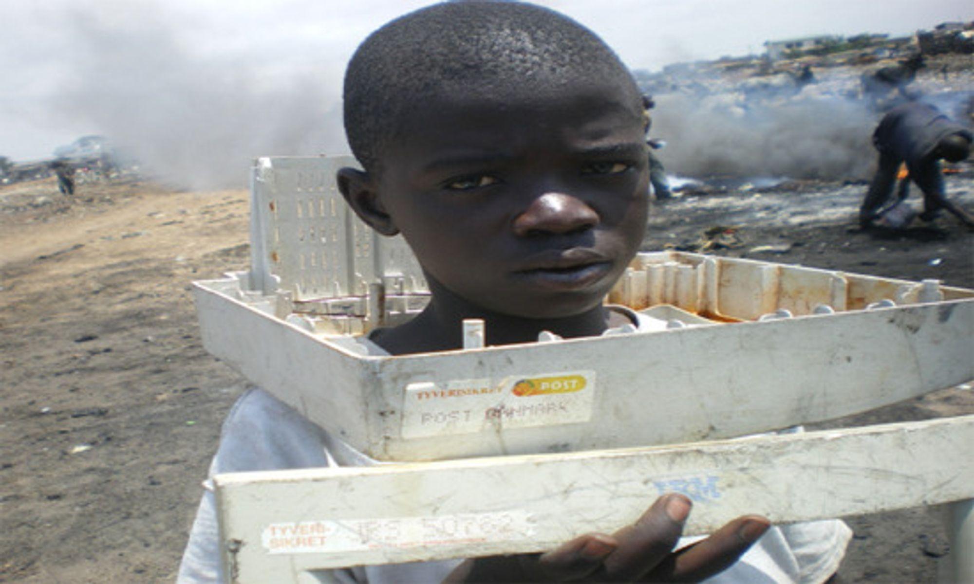 40 prosent av dem som arbeider med avfallet, er barn.