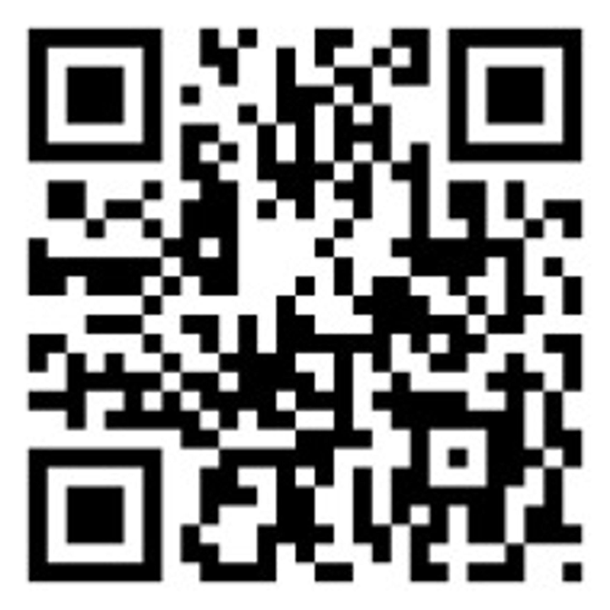 Denne QR-koden inneholder URL-en til mobilutgaven av engelskspråklig Wikipedia.
