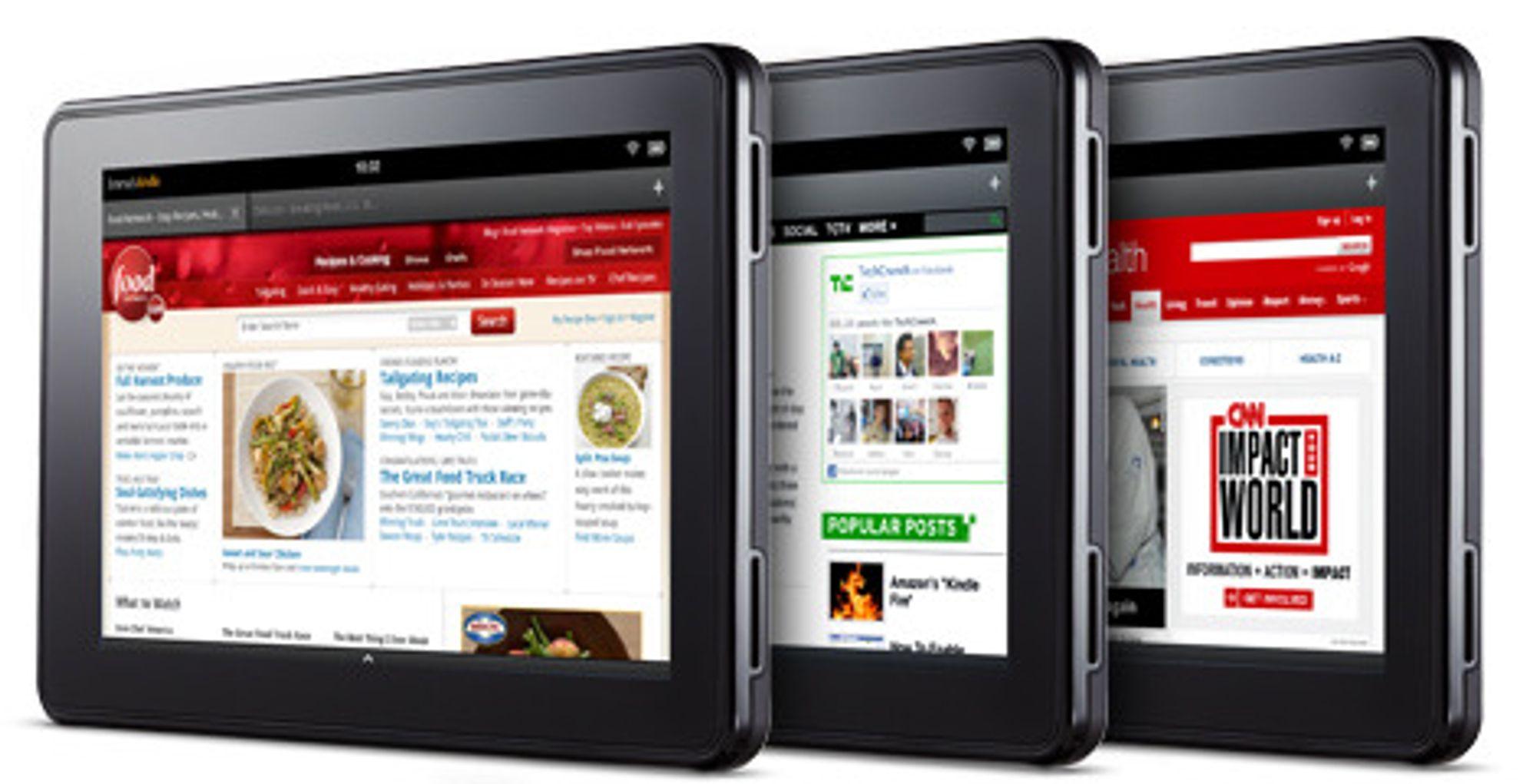 Kindle Fire er et nettbrett med sju tommers skjerm til 199 dollar, dvs rundt 1200 kroner.