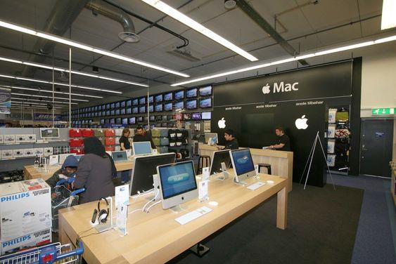 Apple har egen butikk i butikken
