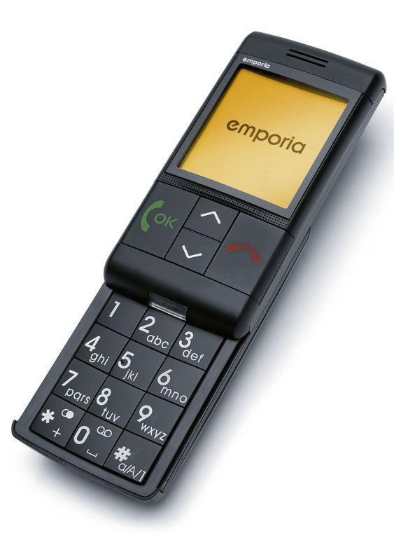 Slik ser modellen emporiaLIFE ut. Seniormobilen preges av store knapper og et enkelt display.
