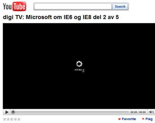 HTML5-utgave av YouTube-video