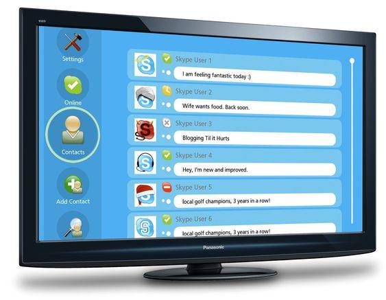 Panasonic HDTV med Skype-støtte.