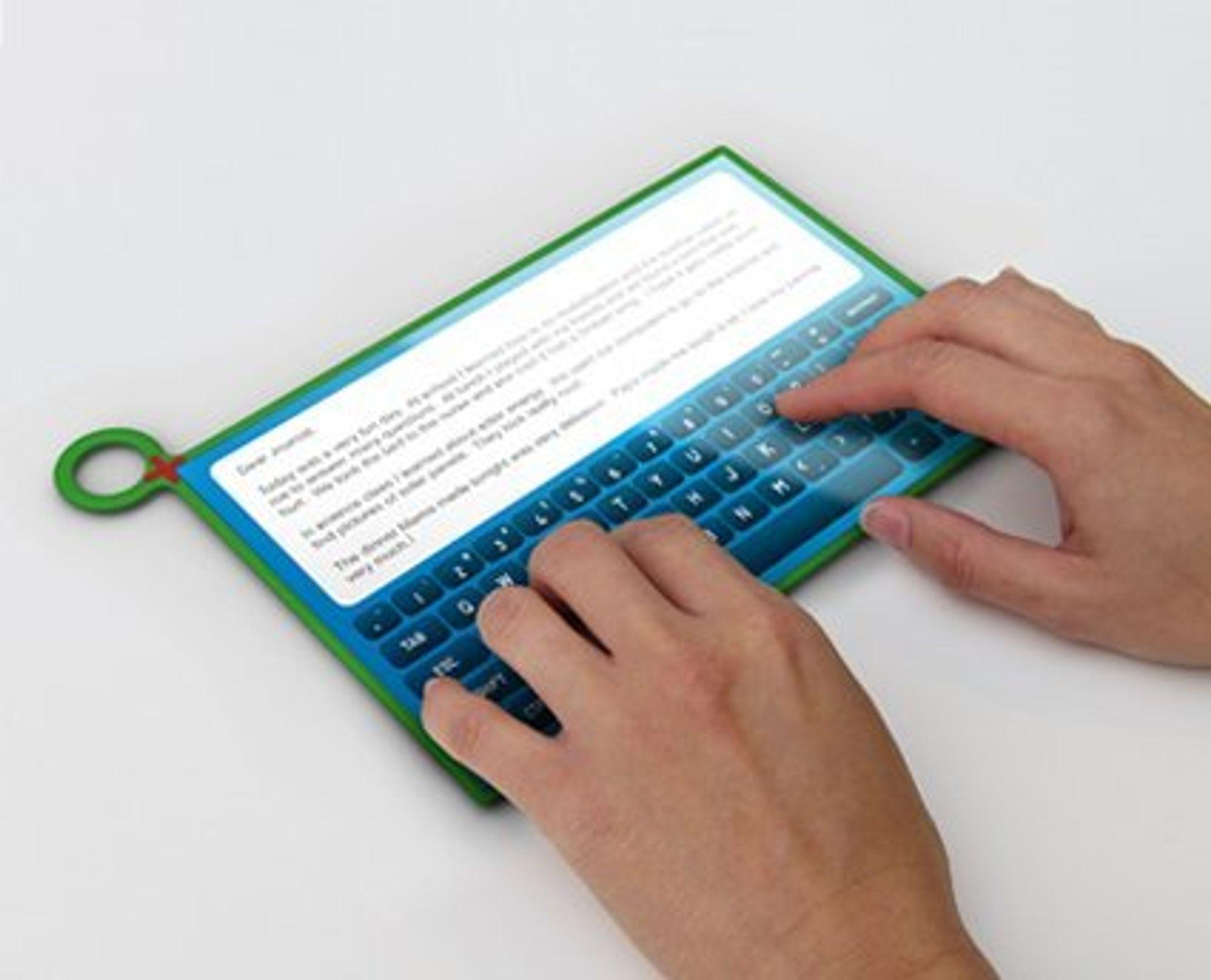OLPC XO-3 med virtuelt tastatur