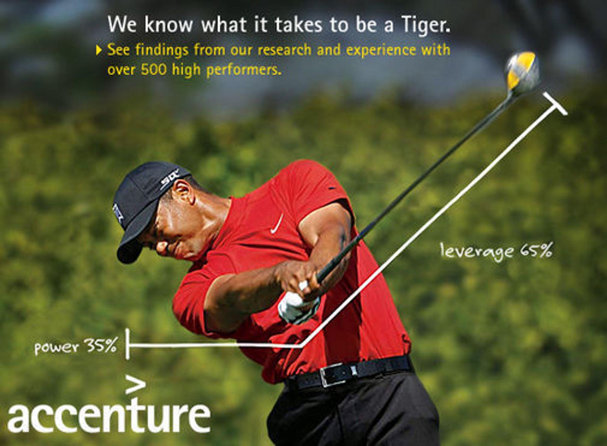 Tigeren viste seg å være mer enn bare golf. Reklame som dette er det følgelig slutt på.