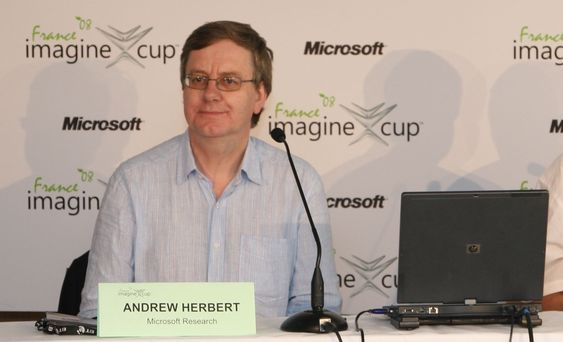 Andrew Herbert er sjef for Microsoft research i Cambridge.