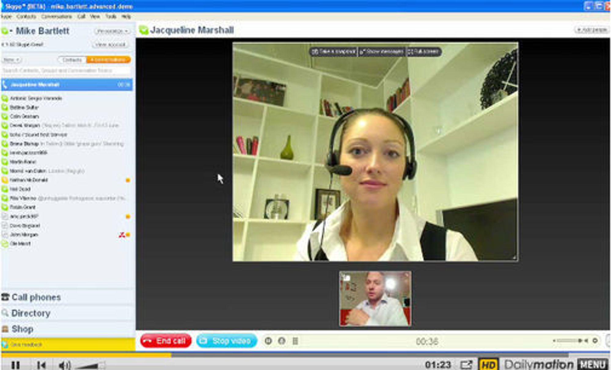 Skype 4.0 beta - demo av videosamtale