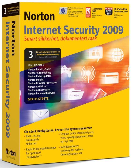 Norton Internet Security 2009 kan brukes til å verne inntil tre pc-er i samme husholdning.