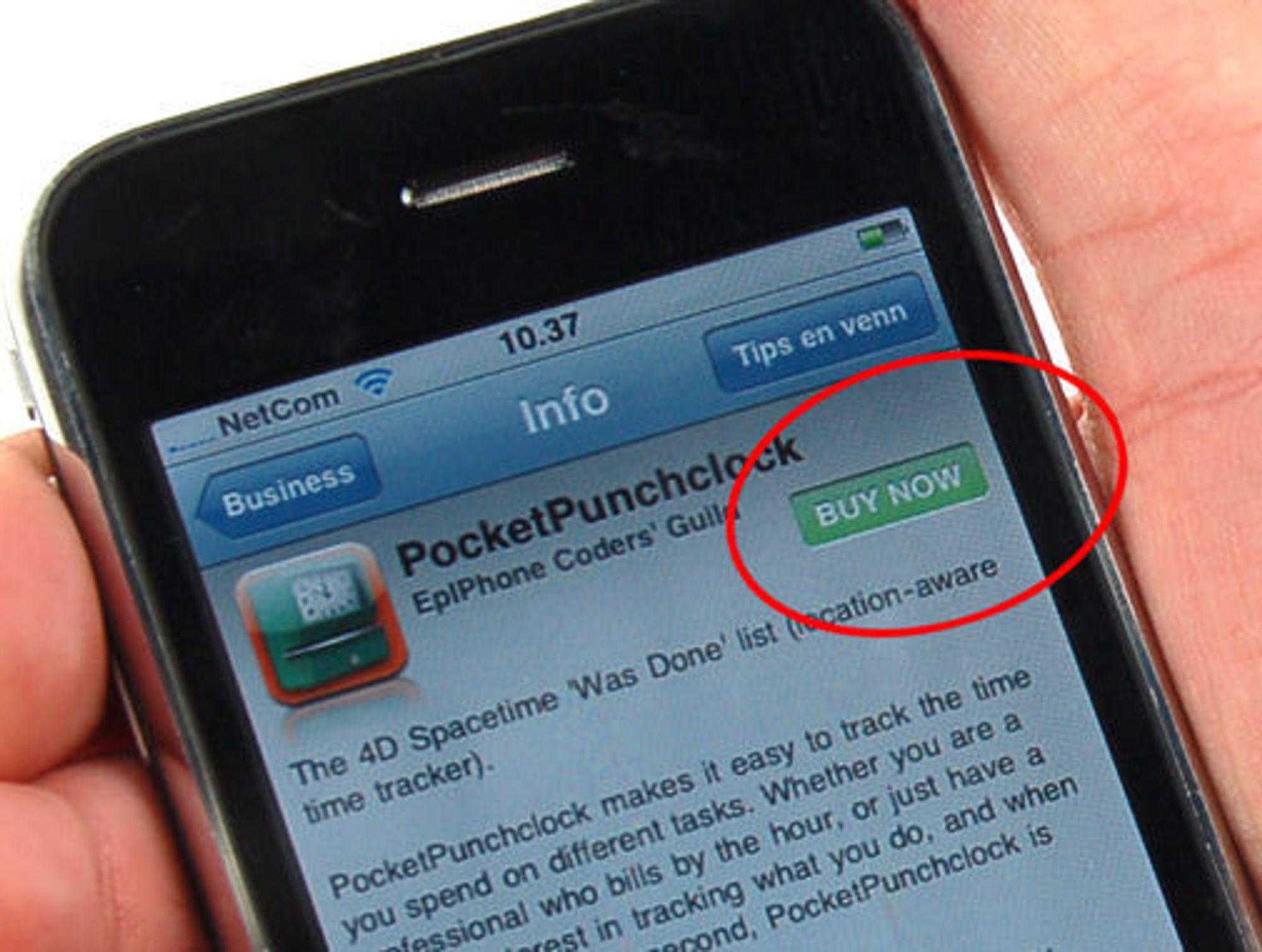 Apple App Store er tett integrert med iPhone. Kundene kan enkelt kjøpe applikasjoner med ett eneste klikk, både direkte på mobilen og gjennom iTunes på PC-en.