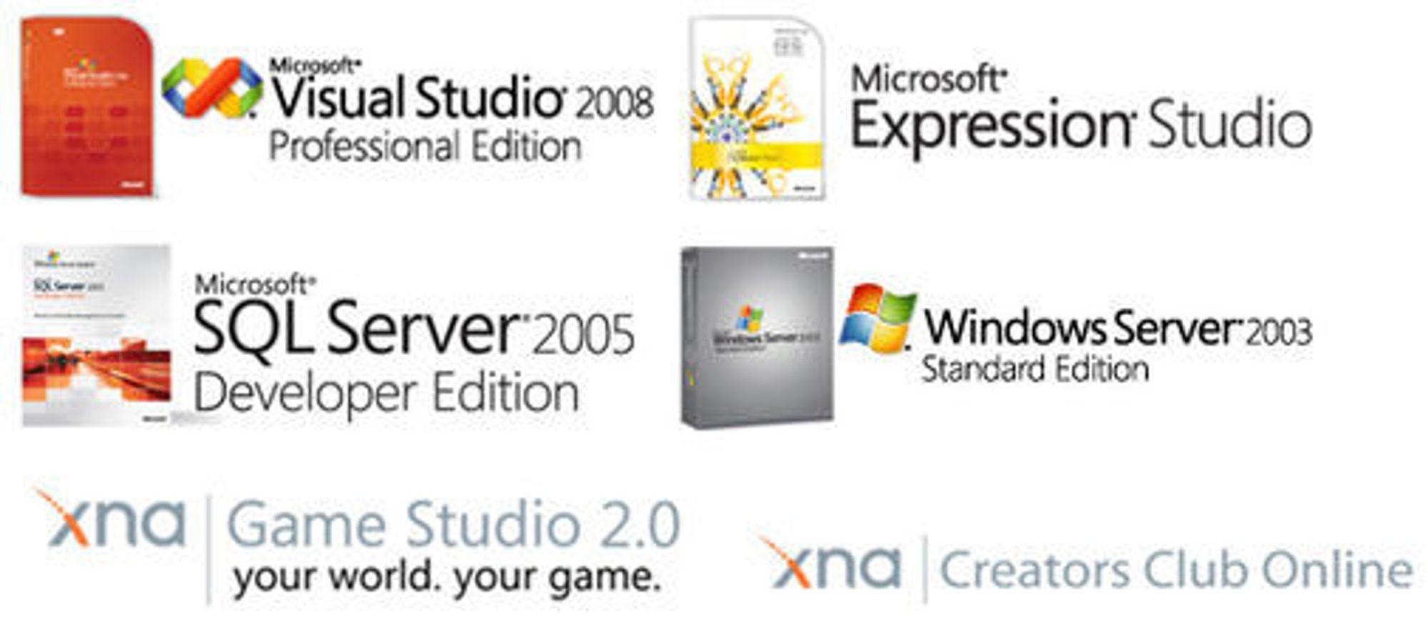 Produktene i Microsofts DreamSpark