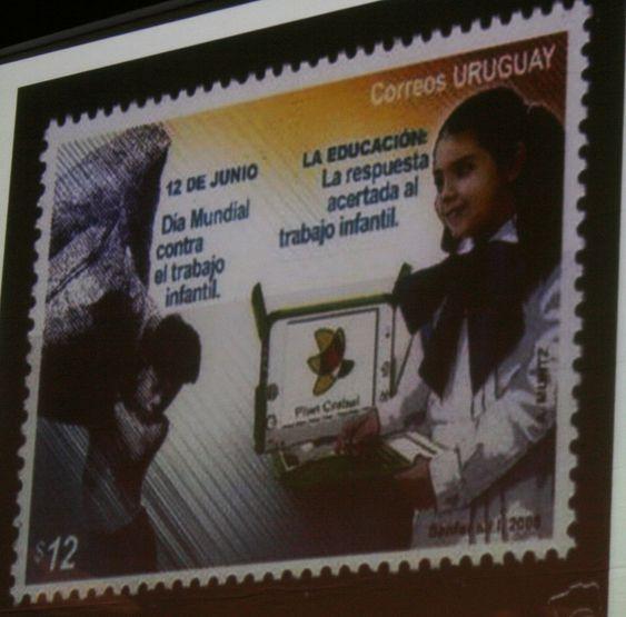 Uruguay har delt ut 100.000 OLPC-maskiner, og har bestilt 200.000 til. De har til og med gitt ut et eget OLPC-frimerke.