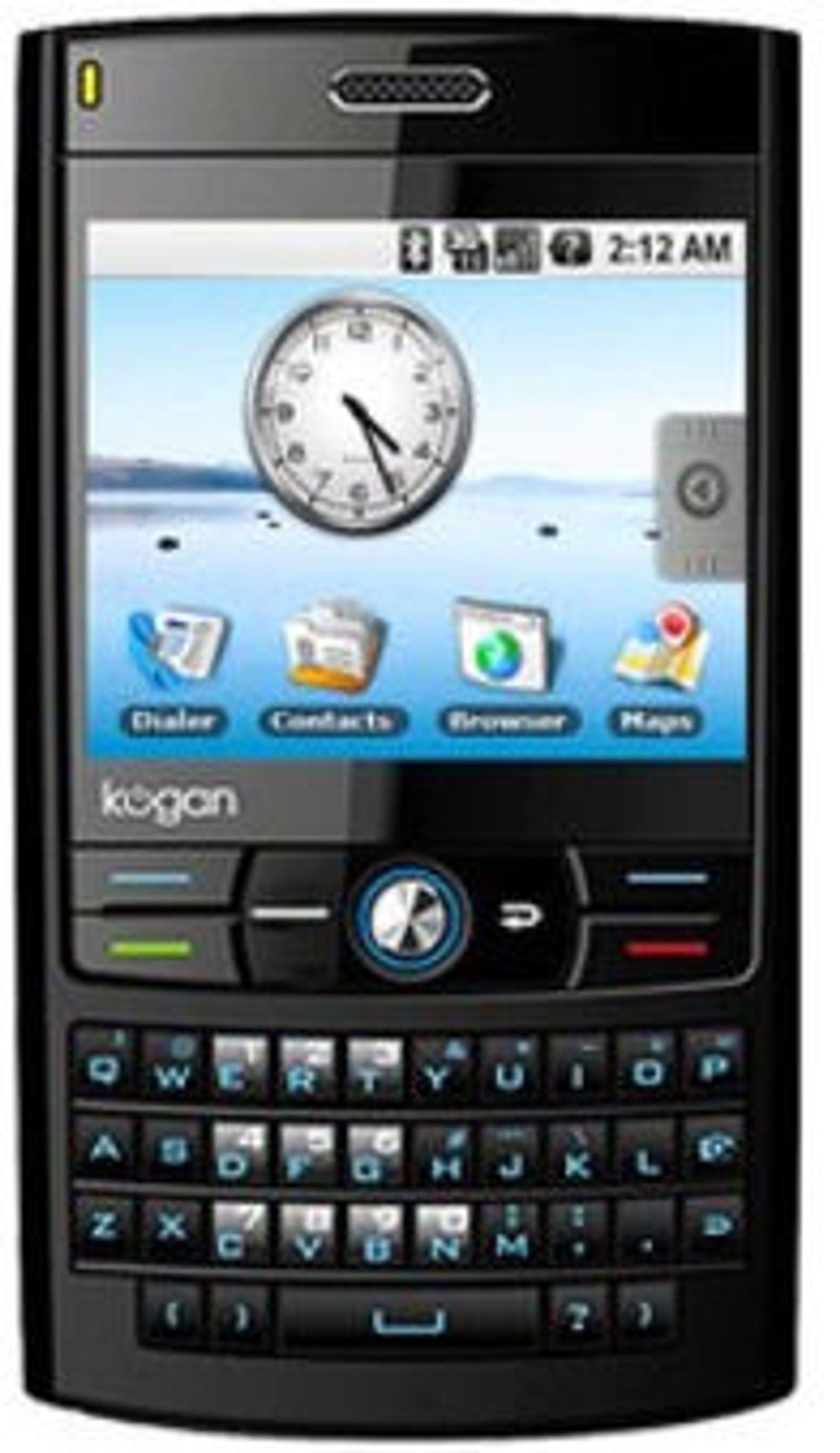 Australske Kogan er andre selskap ut med mobiltelefon basert på Google Android.