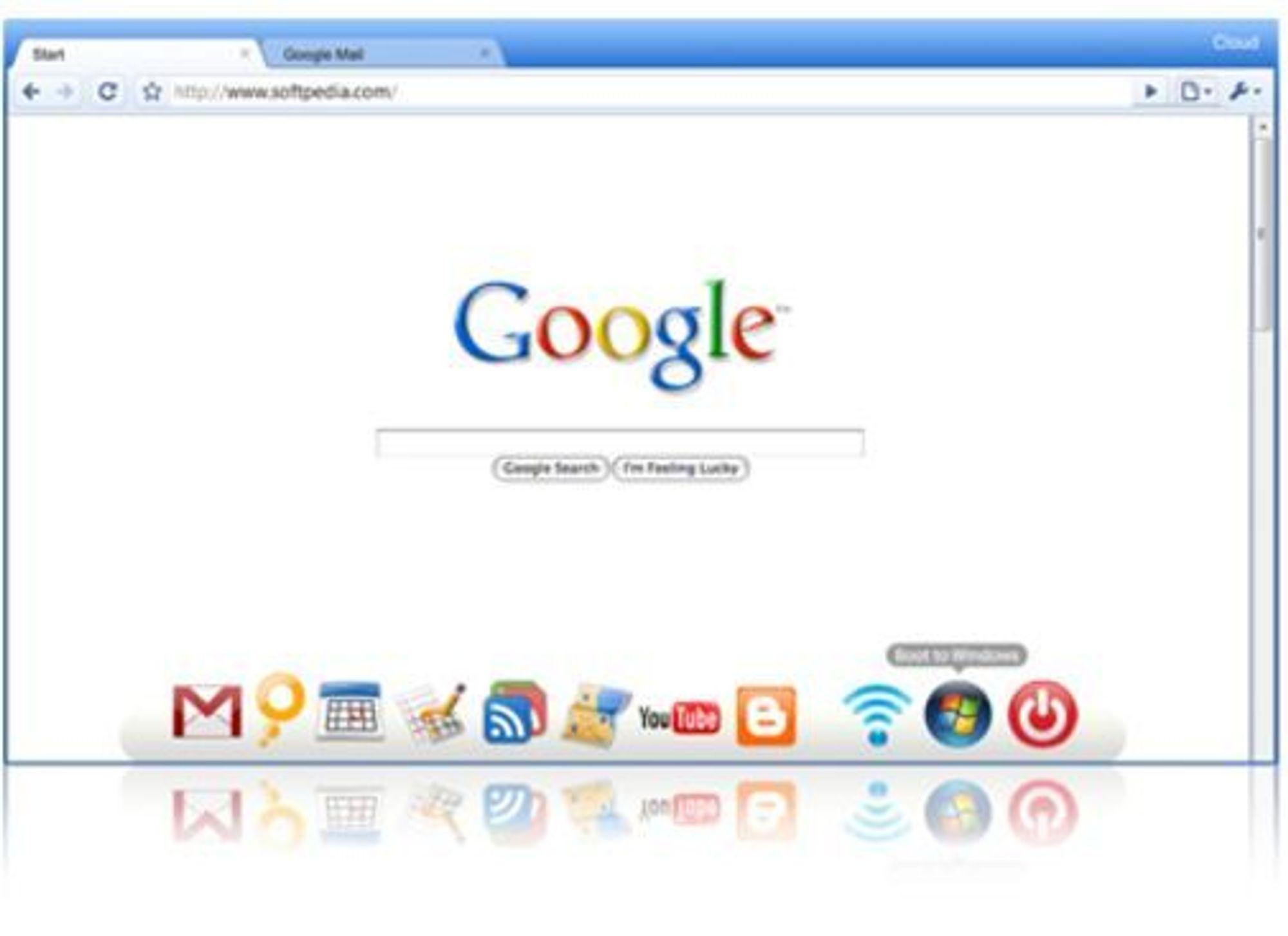Likheten mellom operativsystemet «Cloud» og nettleseren Google Chrome er slående. (Kilde: Good OS)