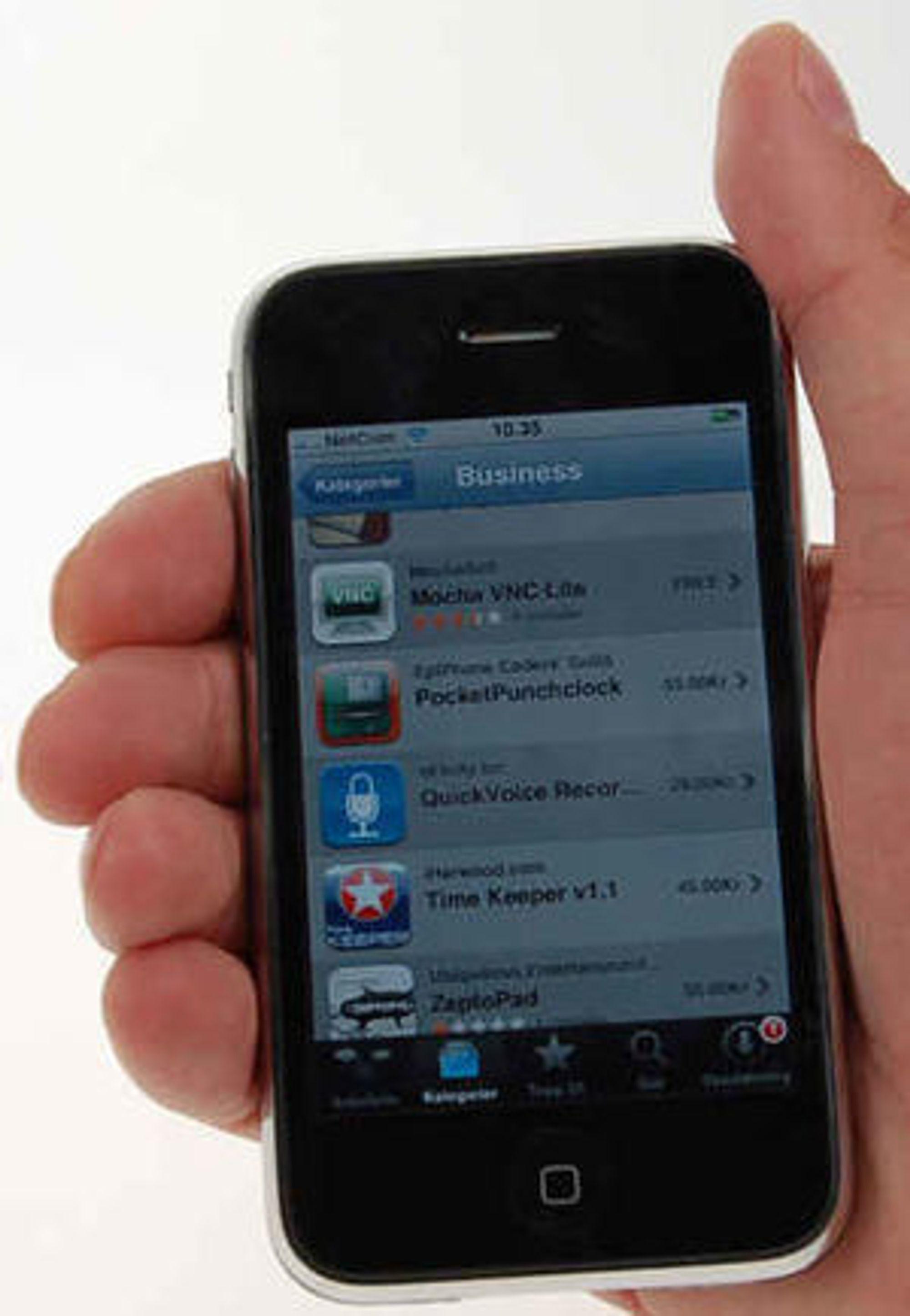 Utvalget listes opp i kategorier - som eksempelvis «business», og brukerne kan anmelde de ulke programmene med tekst og «terningkast». Apple bestemmer selv hvilke programmer som listes opp under seksjonen for anbefalte programmer.