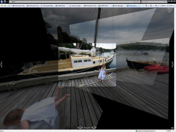 Motiv sammensatt av flere fotografier ved hjelp av Photosynth.