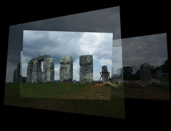 Det sammensatte resultatet av fotografiene. Herfra kan man bevege seg innover eller på skrå.
