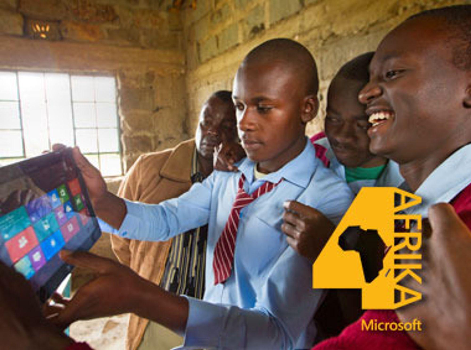 Slik presenterer Microsoft prosjektet der bredbånd leveres av solcelledrevne basestasjoner som utnytter ledige tv-frekvenser.