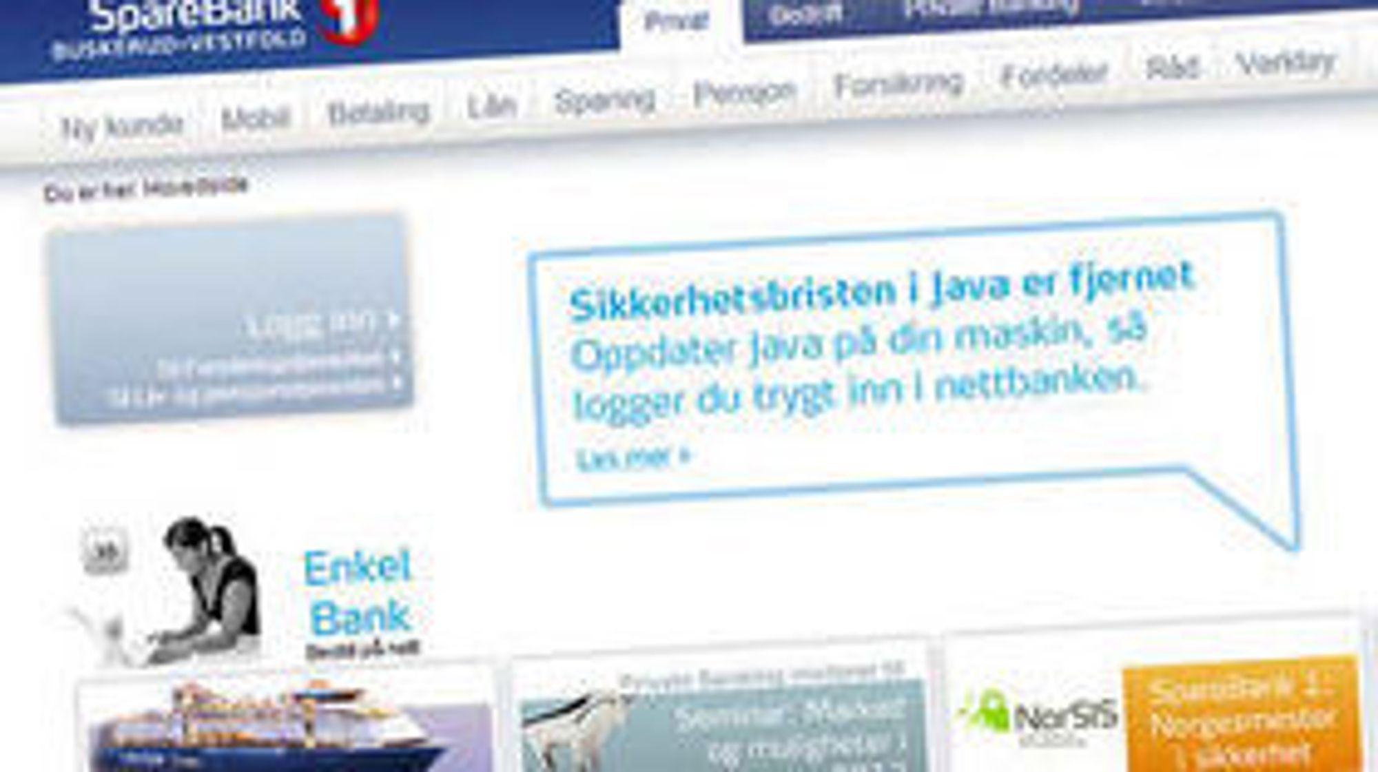 Trygg med Java? Ja, ifølge «Norgesmester i sikkerhet» SpareBank1.