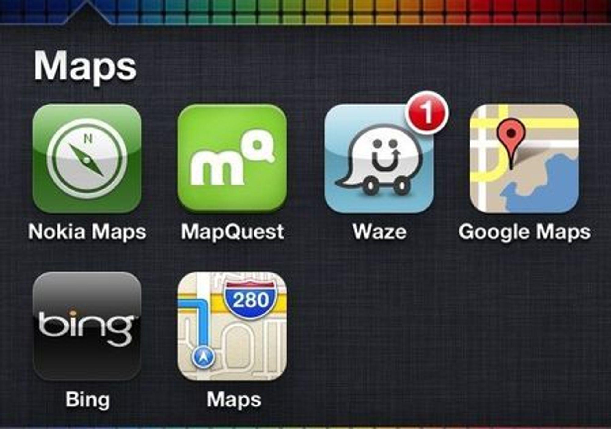 Enhver som vil hevde seg på det mobile internett må få aksept for sine kart.