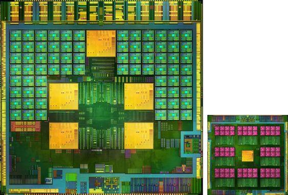 Nvidia Tegra 4 innvendig, her sammen med hjelpebrikken Icera I500.
