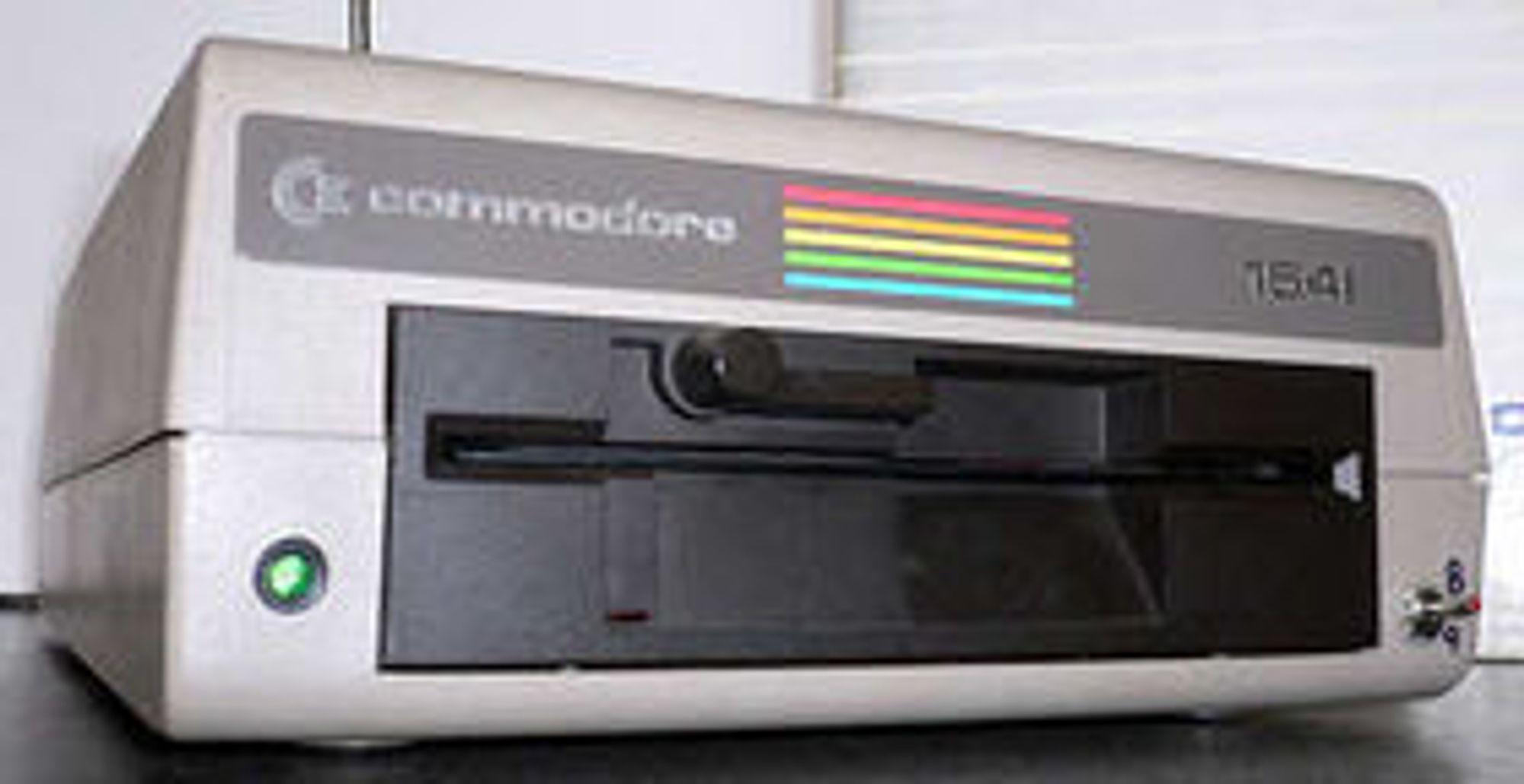 Diskettstasjonen Commodore 1541.
