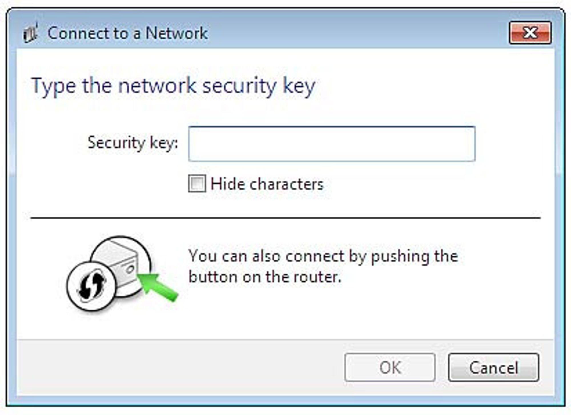 Sikkerhetsnøkkelen man blir bedt om å skrive inn, er i praksis en pinkode hvor bare fire av de åtte sifrene er ukjente.
