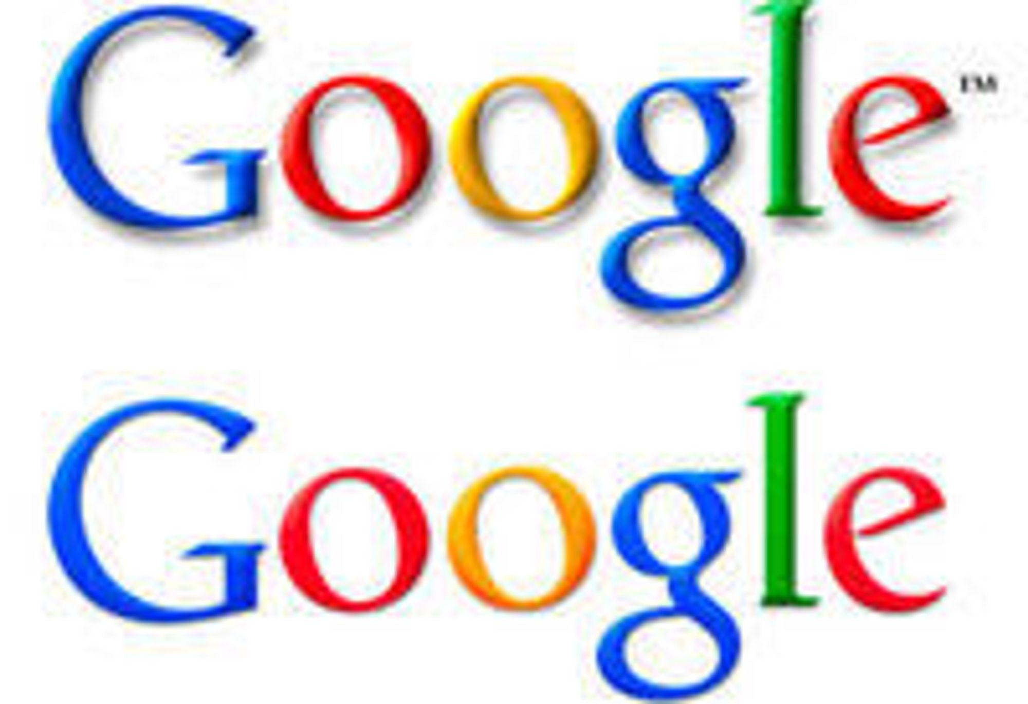 Logoen til Google har fått en mer subtil 3D-effekt. Og vekk med den gammeldagse «drop shadow»-effekten.