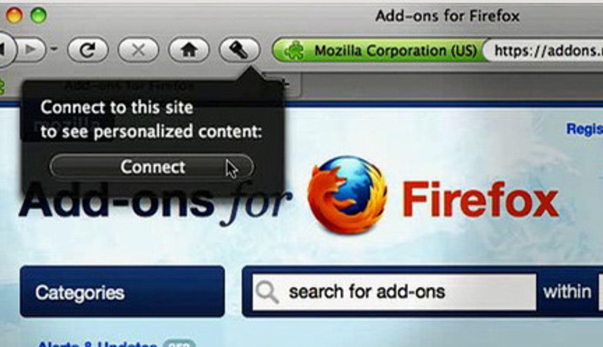 Account Manager-utvidelsen til Firefox lar deg logge inn og ut av blant annet Google ved hjelp av et klikk på den nye nøkkelknappen på verktøylinjen i nettleseren.
