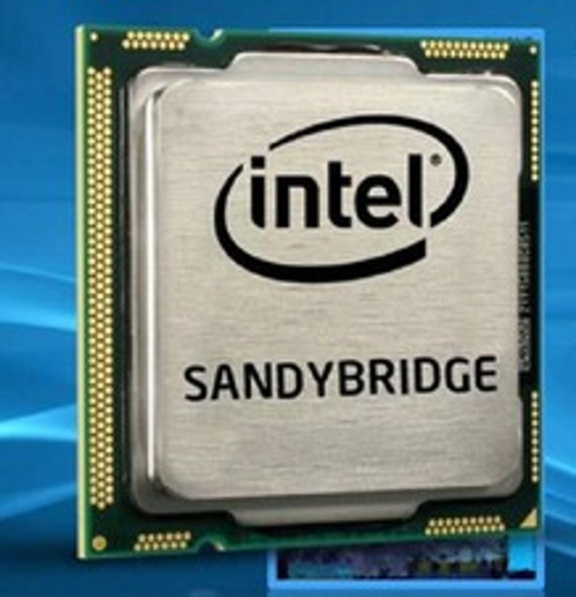 Neste generasjons Intel-prosessorer vil være basert på mikroarkitekturen «Sandy Bridge».