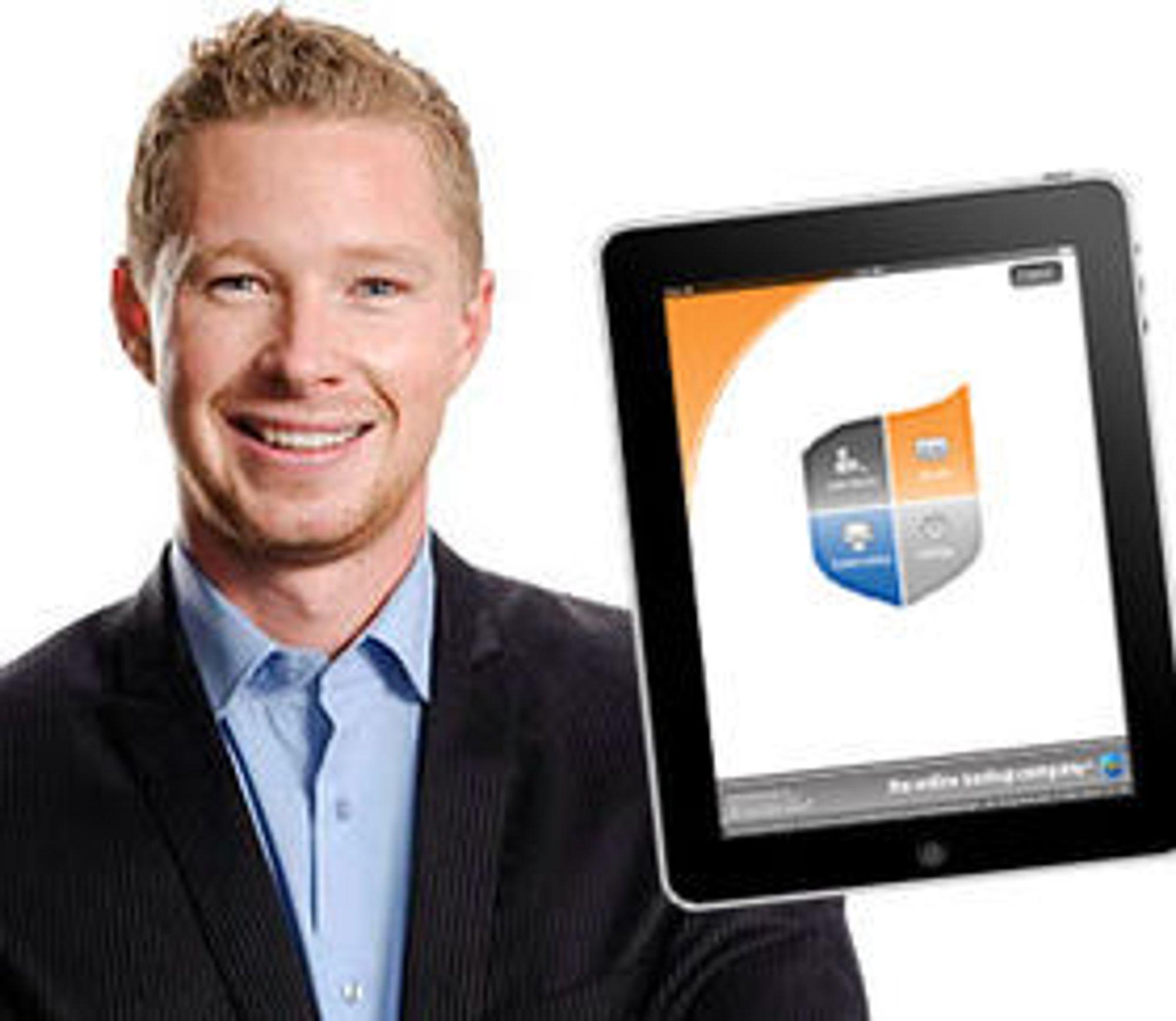 Utgir iPad-app: Gründer og daglig leder Alexander Hagerup i Online Backup Company.