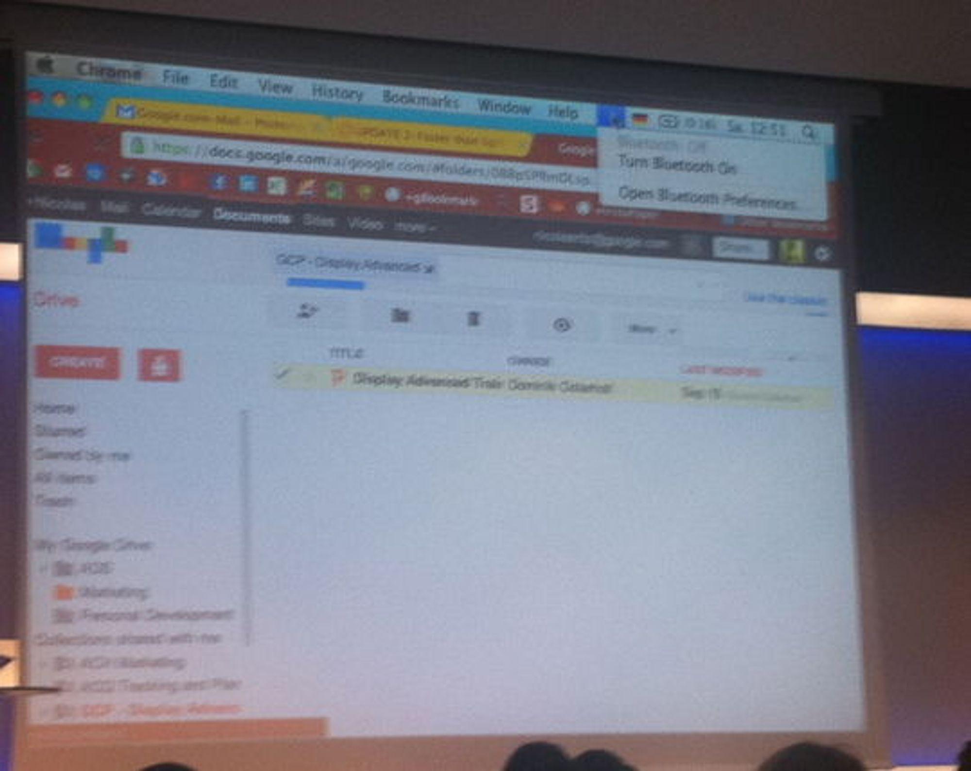 Et bilde av det som kanskje er en kommende lagringstjeneste fra Google.