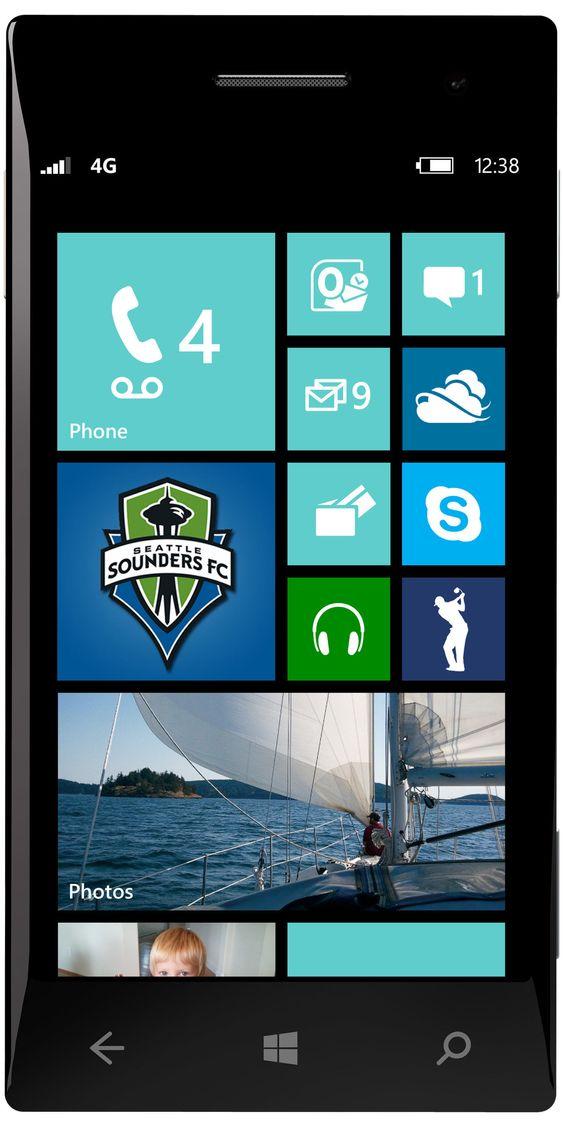 Startskjermen i Windows Phone 8.