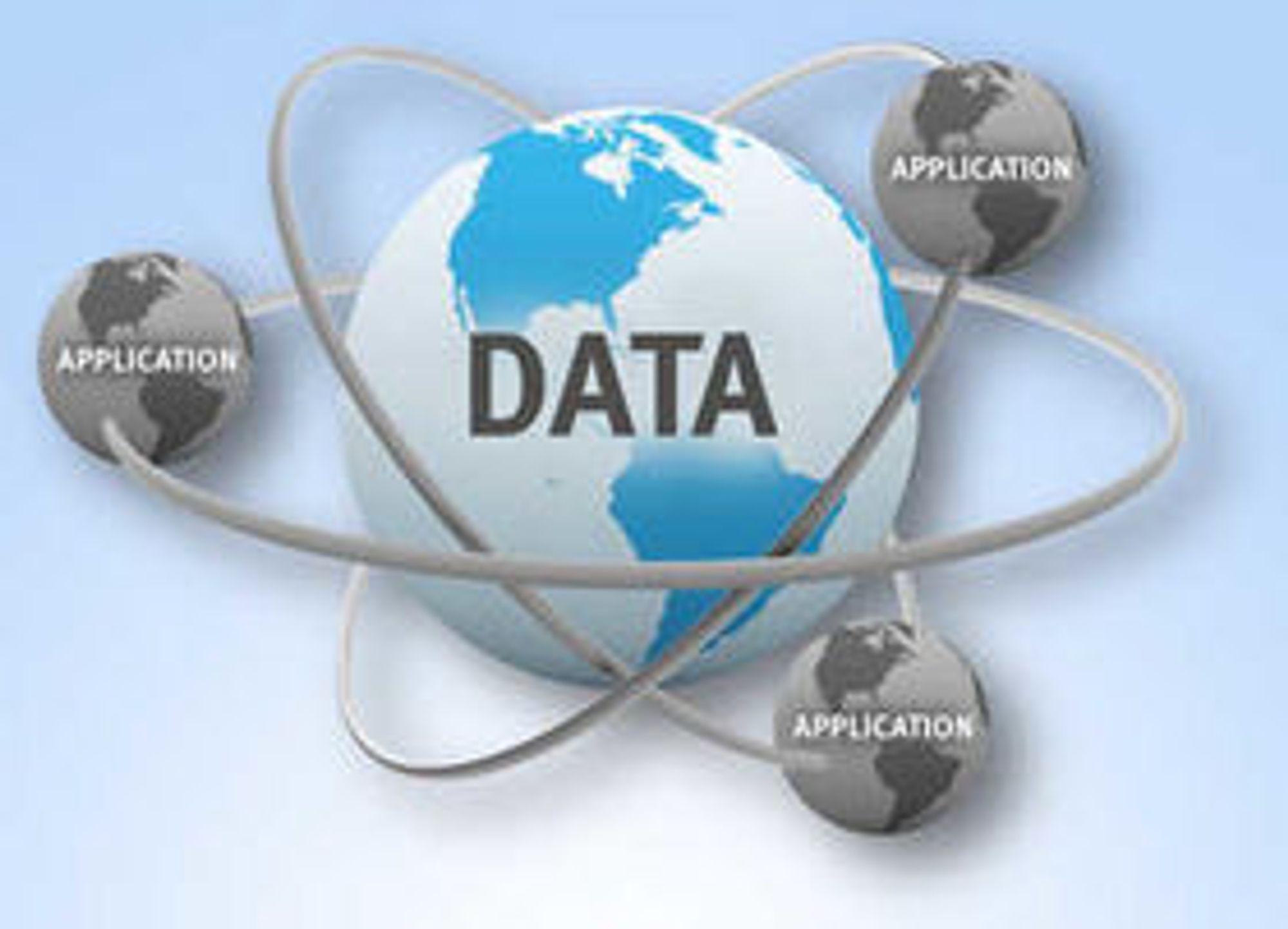 Data er det sentrale. Applikasjoner er noe vi bruker for å lage og forstå data.