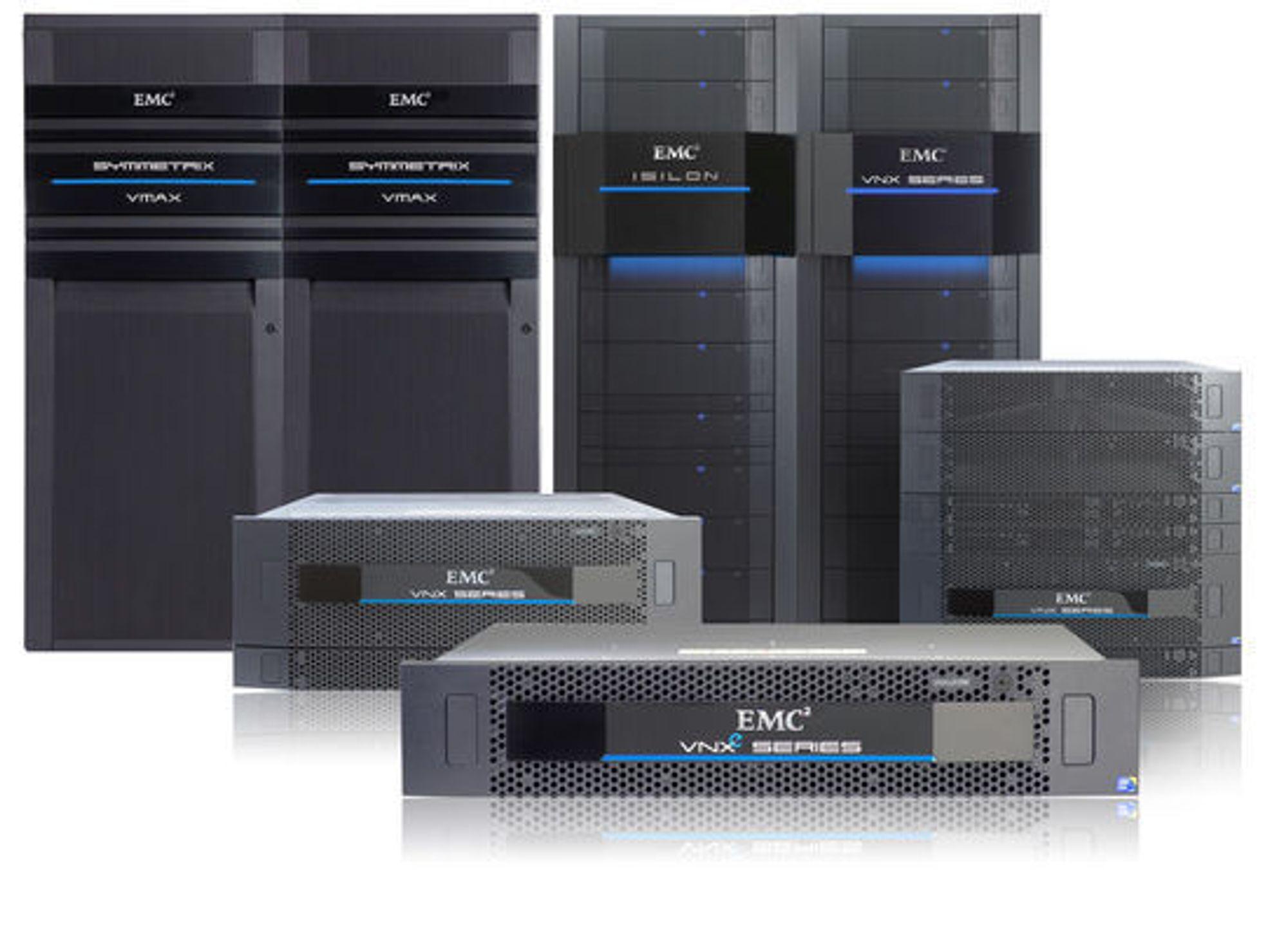 EMC-familien: VMAX, Isilon og VNX.