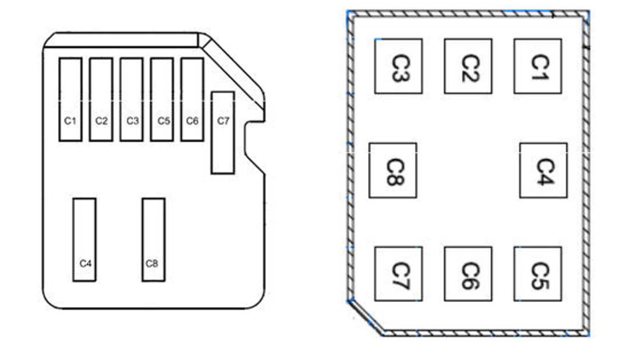 Nokias (til venstre) og Apples forslag til den fjerde formfaktoren for SIM-kort. Det er Apples forslag som nå har blitt vedtatt.