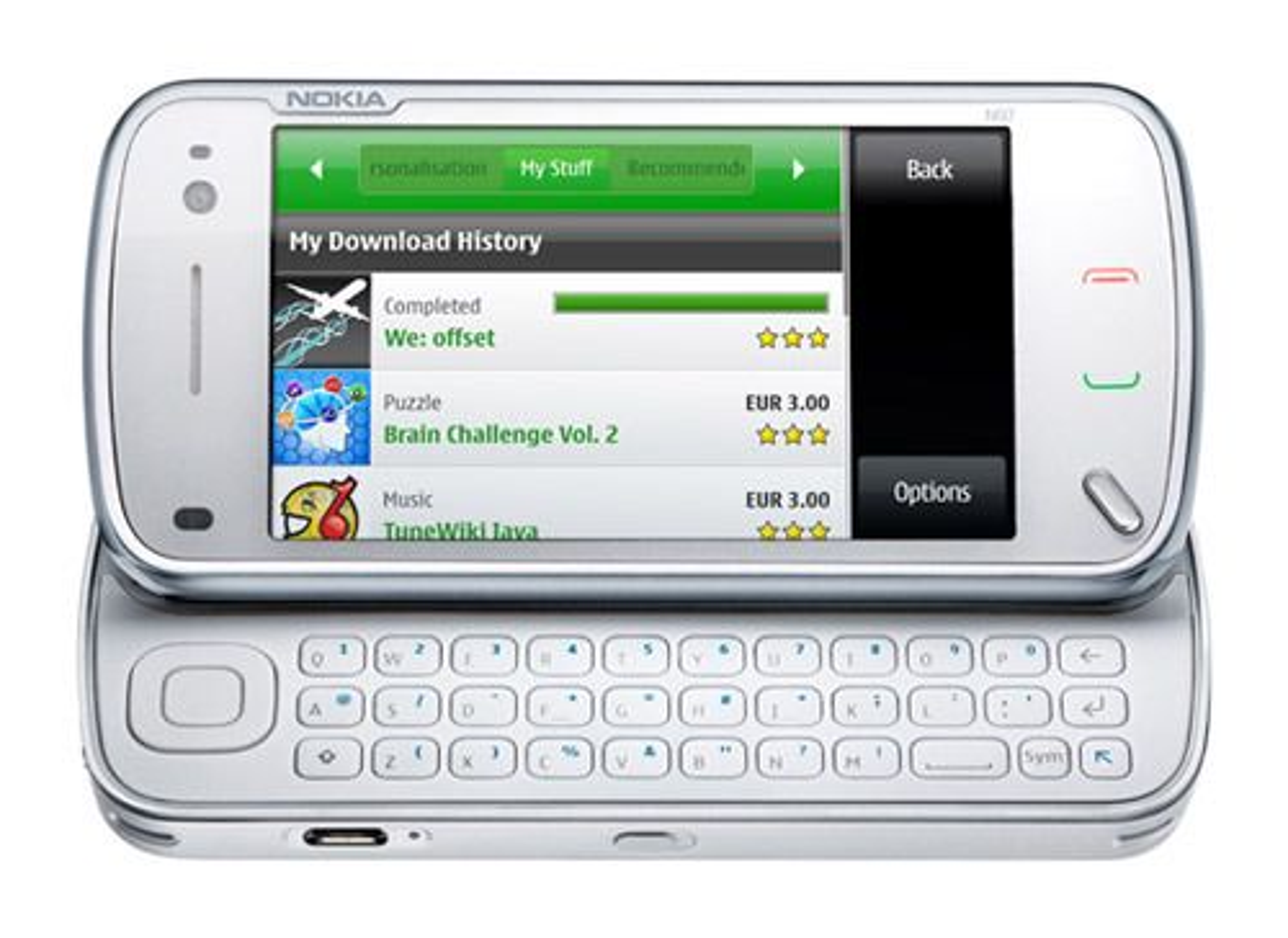 Ovi Store på en Nokia N97