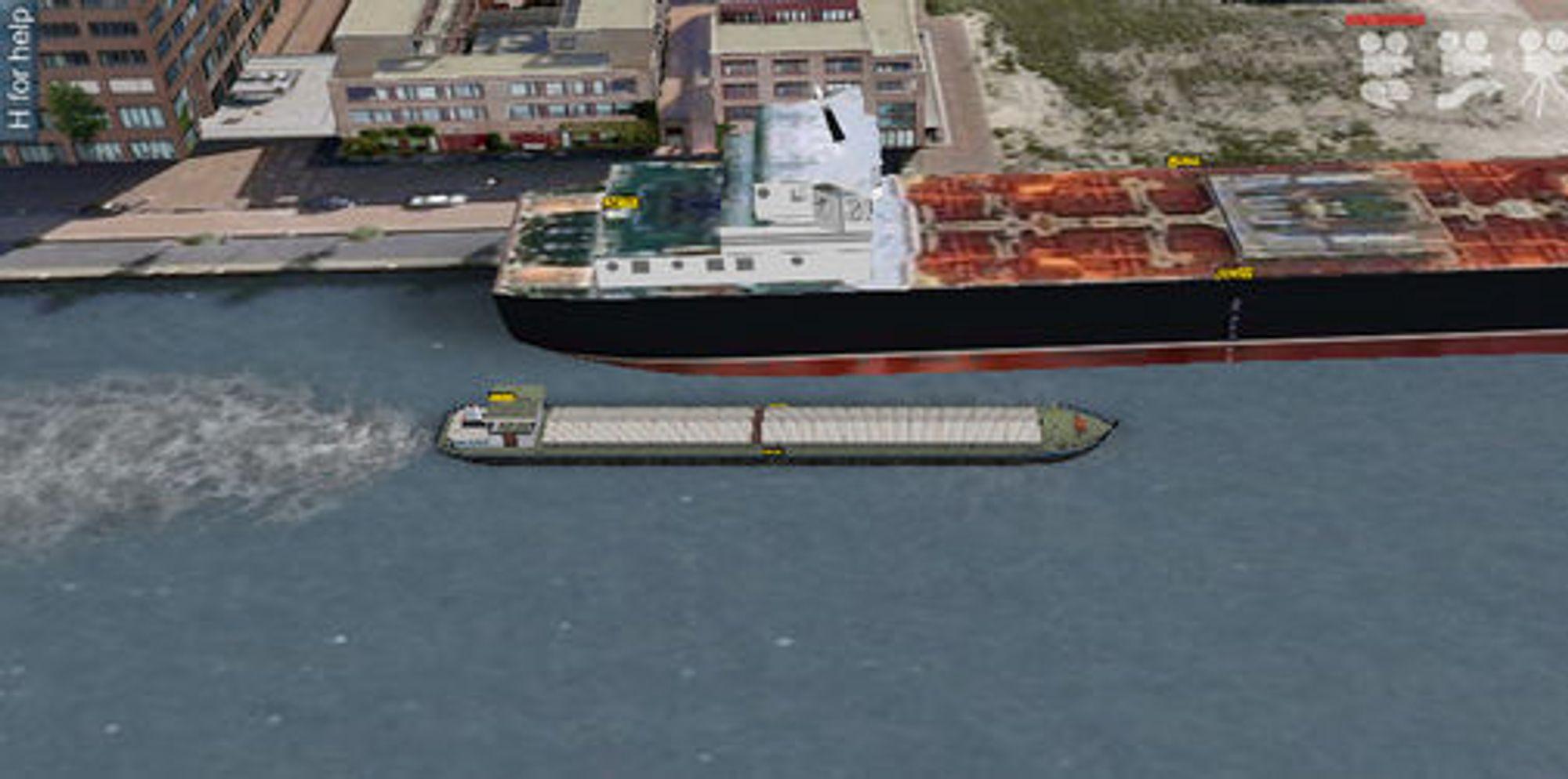Det kan være greit å prøve med et forholdsvis lite skip først. Her en elvelekter.