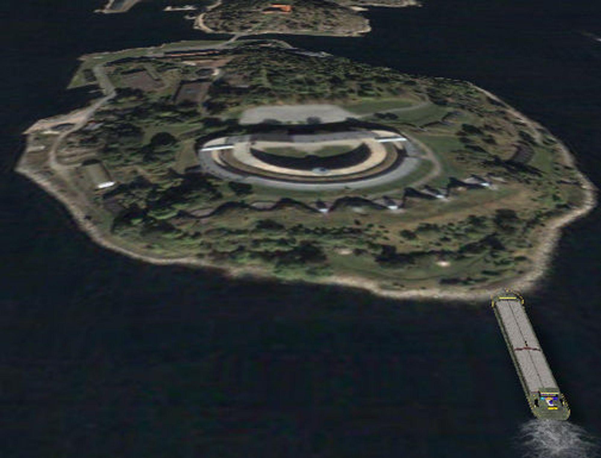 Fra vårt forsøk på å seile en lekter på land ved kanonene på Oscarsborg.