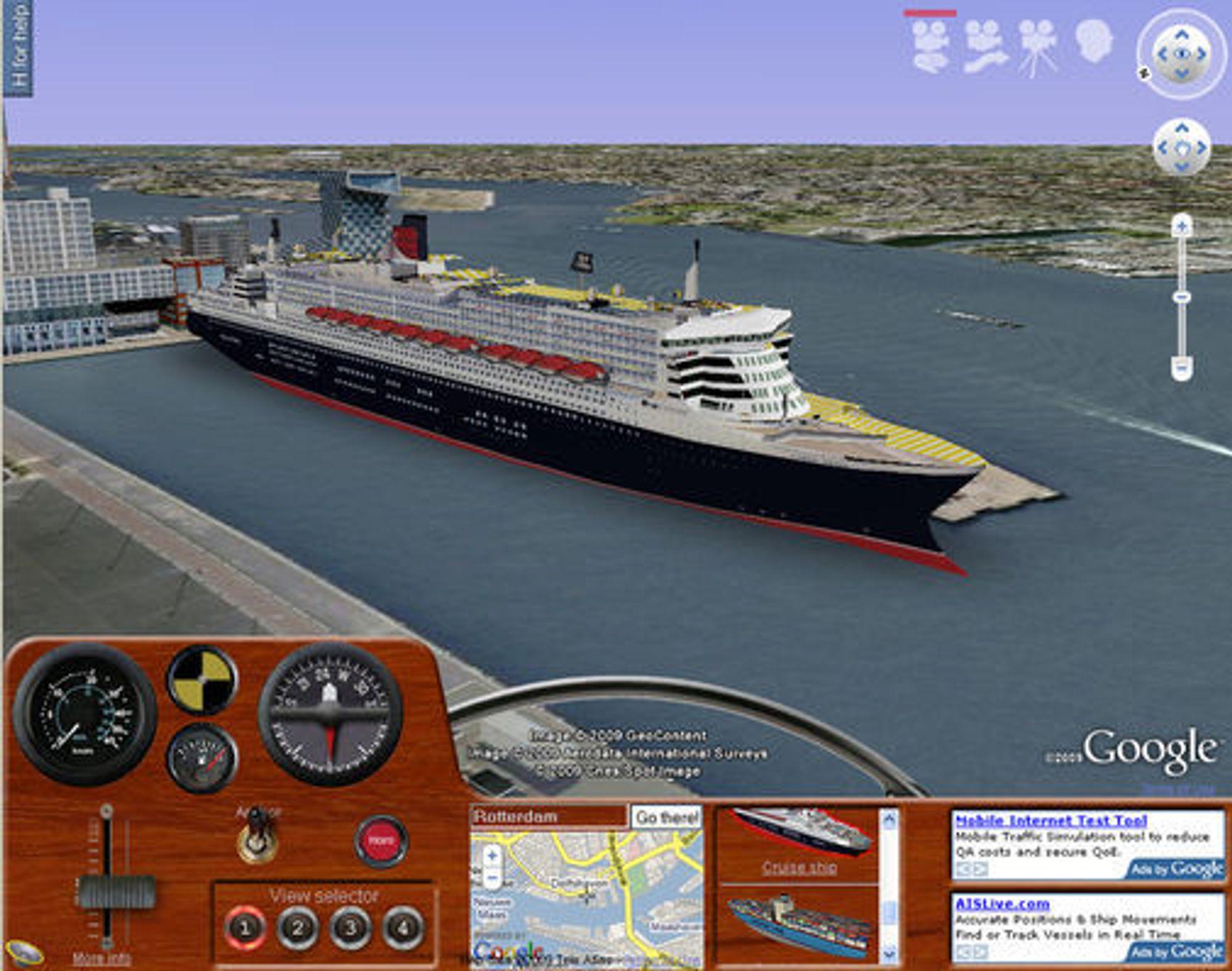 Queen Mary II er blant skipene man kan velge mellom i Ships.