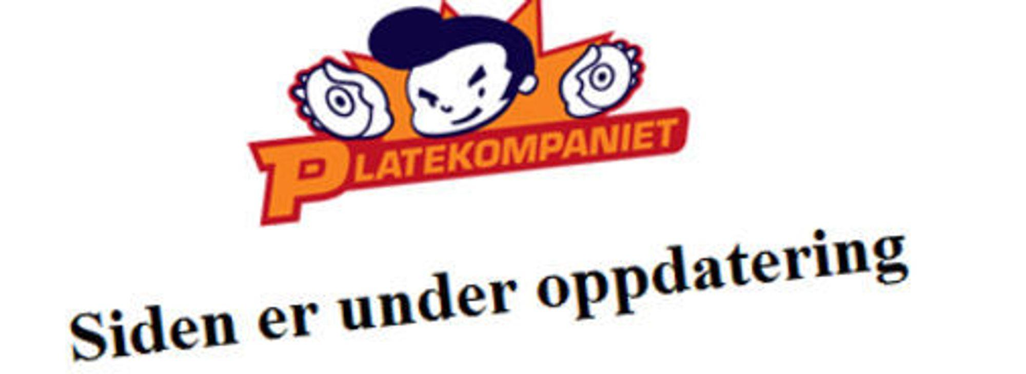 Slik fremstår Platekompaniets nettsider på lanseringsdagen for ny nettbutikk.