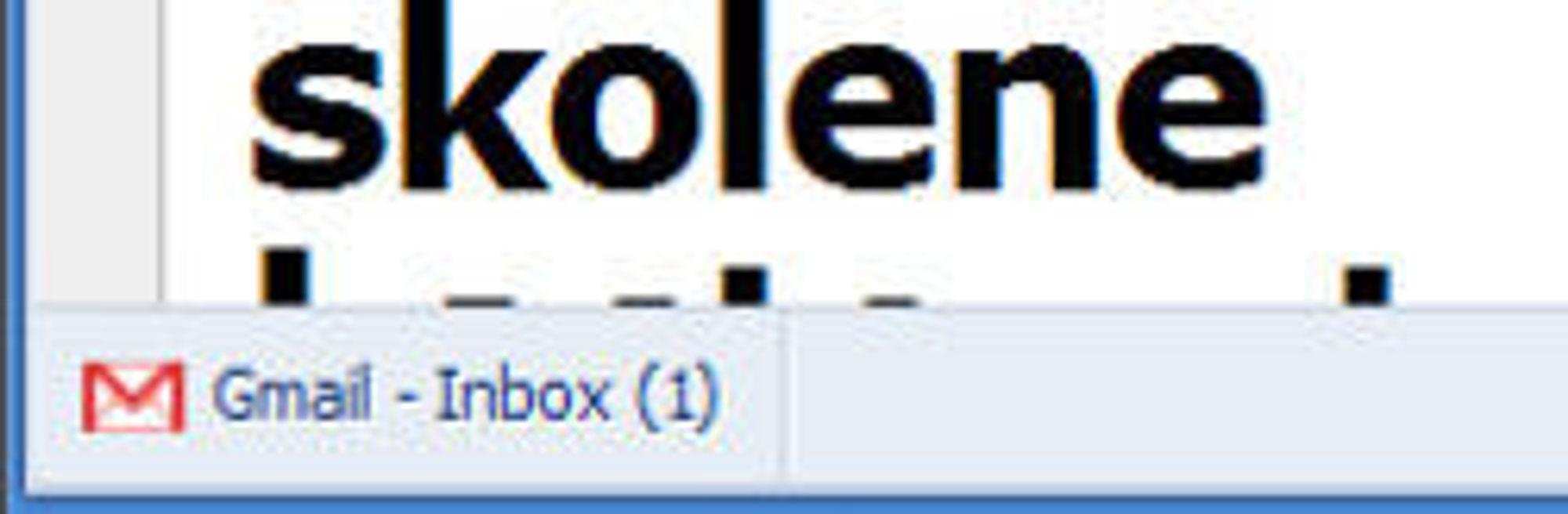Utvidelse til Google Chrome som viser antallet nye e-post i brukeren Gmail-konto.