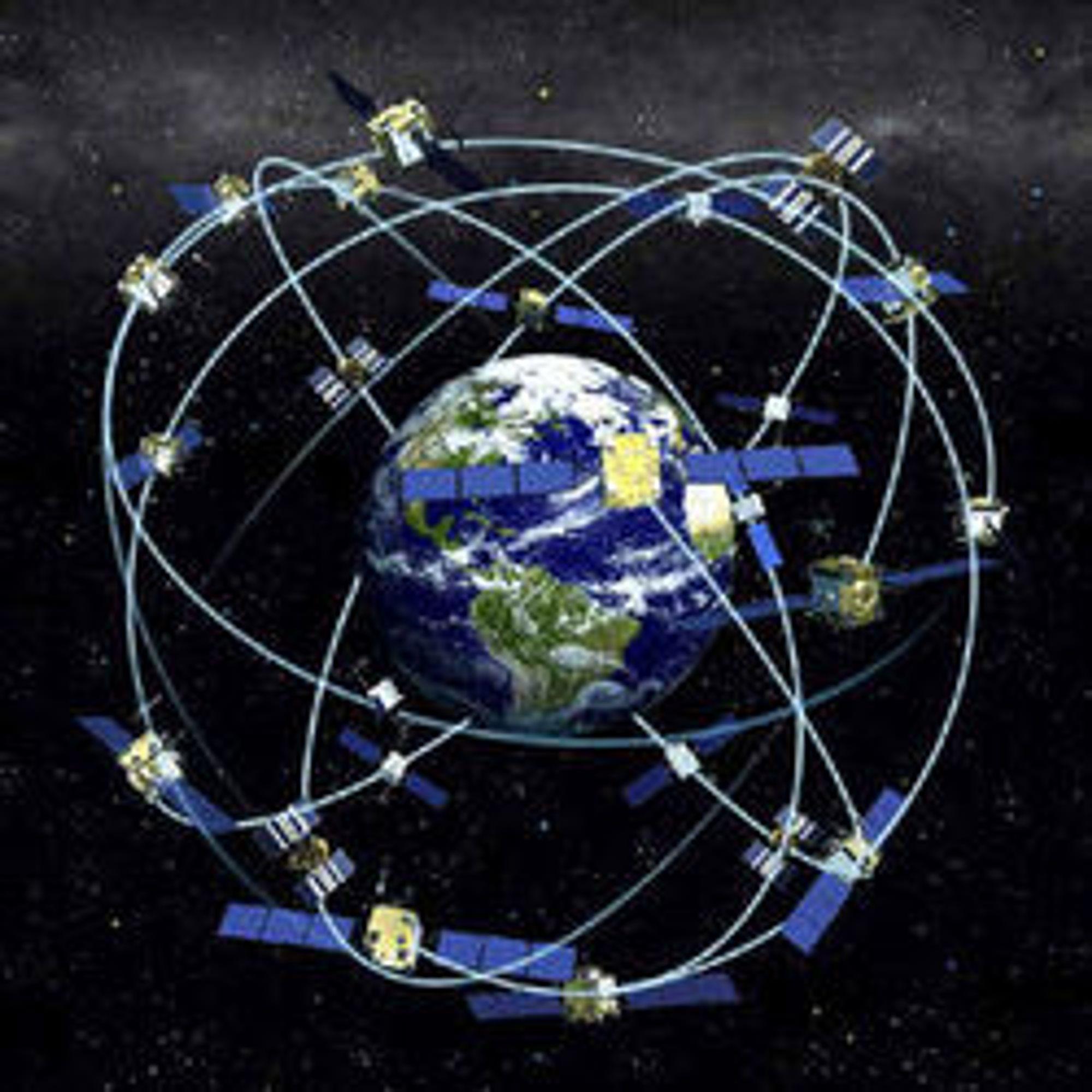 Banene til GPS-satelittene.