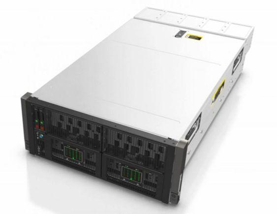 SL4500 er en rackenhet med en høyde på 4,3 U.