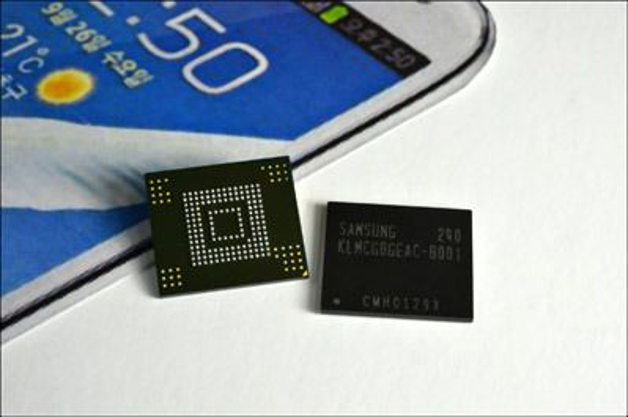 De nye flashminne-modulene til Samsung.
