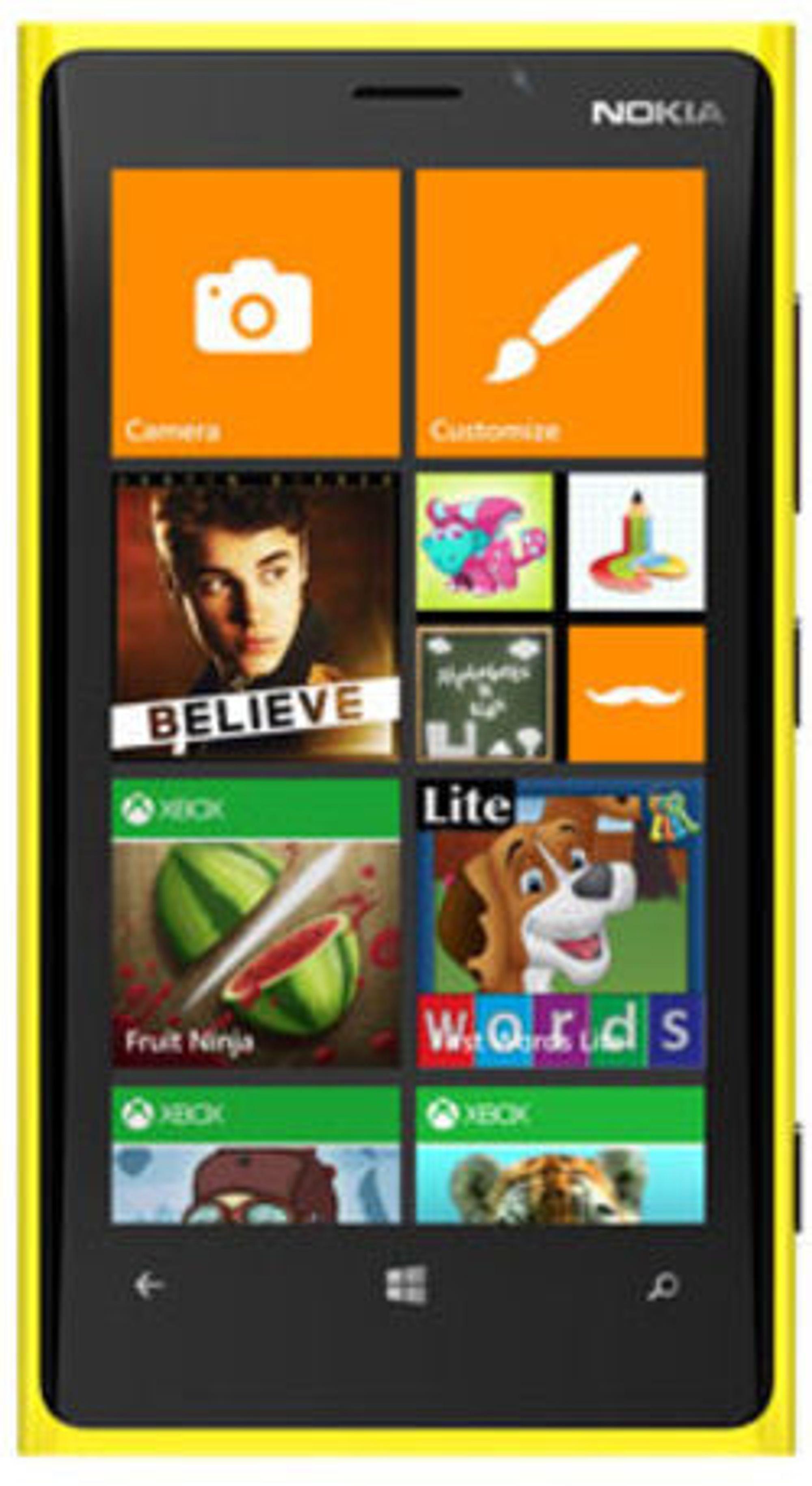 Slik presenterer Microsoft det barnevennlige området Kid's Corner i Windows Phone 8, hvor ungene kan boltre seg fritt uten at det skjer uhell som skaper bry for foreldrene.