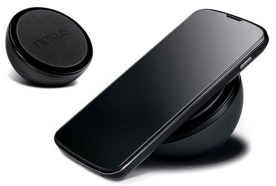 I likhet med flere andre nyere mobiltelefoner, har Nexus 4 støtte for trådløs lading.