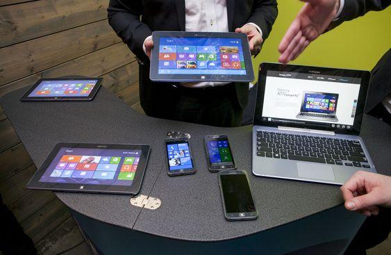Samsung viste fram hele spekteret av selskapets nye Windows-produkter.
