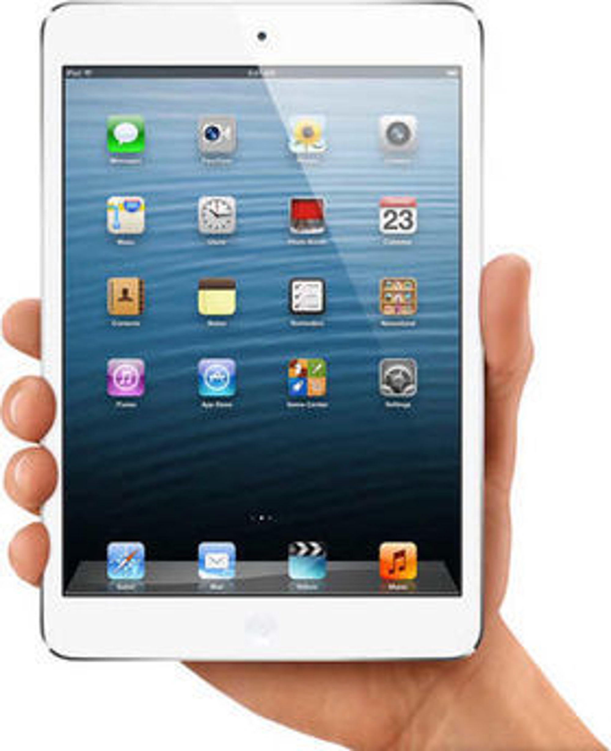 Den nye iPod Mini kan holdes i en hånd, men Apple lover den blir like allsidig som storebror iPad.