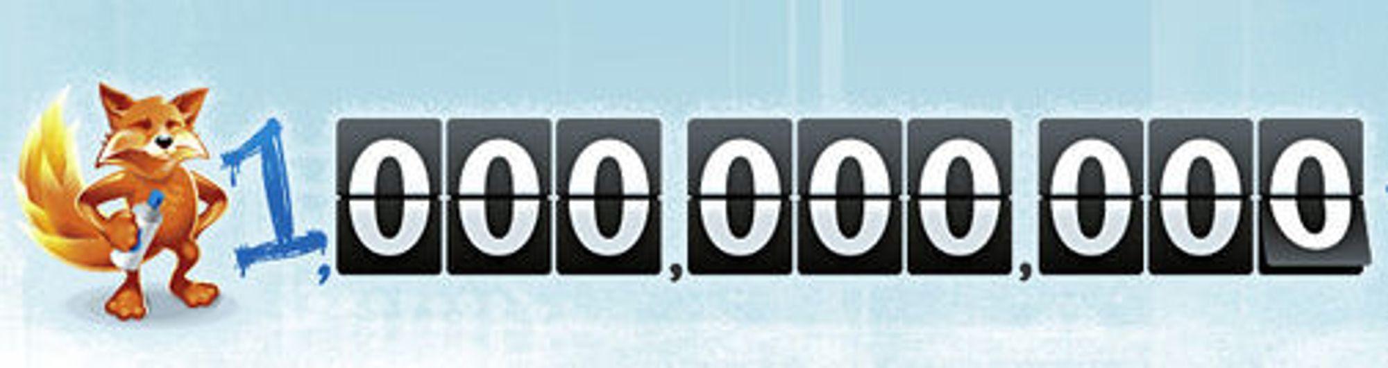 Firefox er lastet ned 1 milliard ganger siden november 2004.